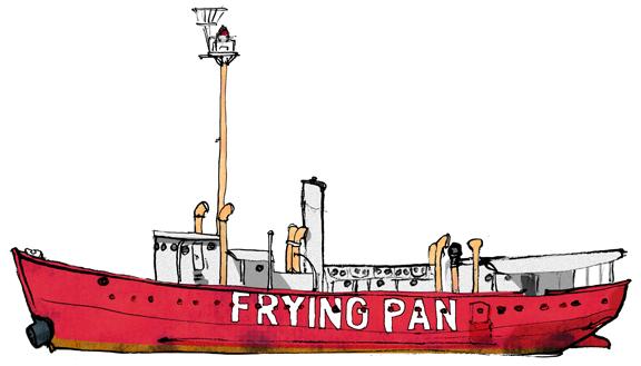 frying pan pier 66 bowsprite a new york harbor sketchbook. Black Bedroom Furniture Sets. Home Design Ideas